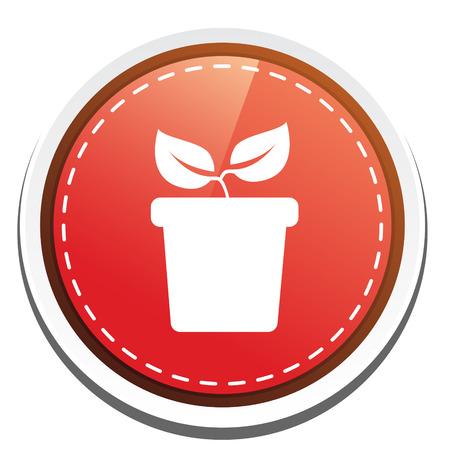 plant in pot: plant pot icon Illustration