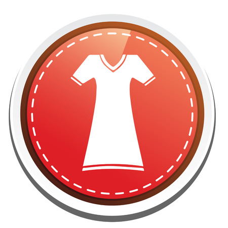 casual dress: casual dress icon Illustration