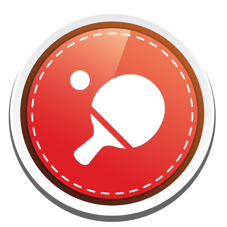 ping pong paddle icon Vector