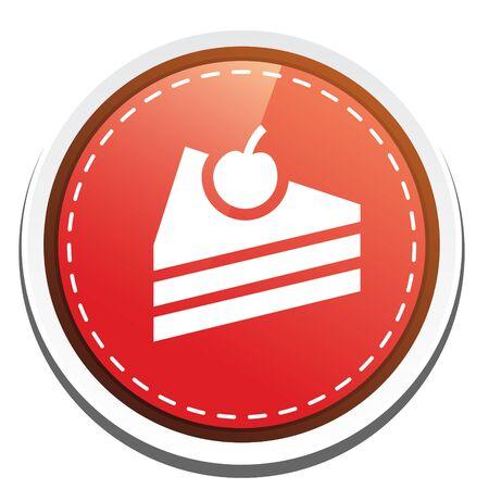 cake slice: cake  slice icon Illustration
