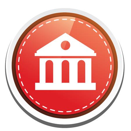 edificio banco: icono de edificio del banco