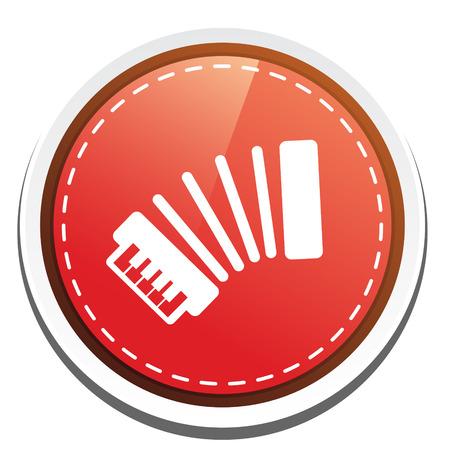 accordion: accordion button Illustration