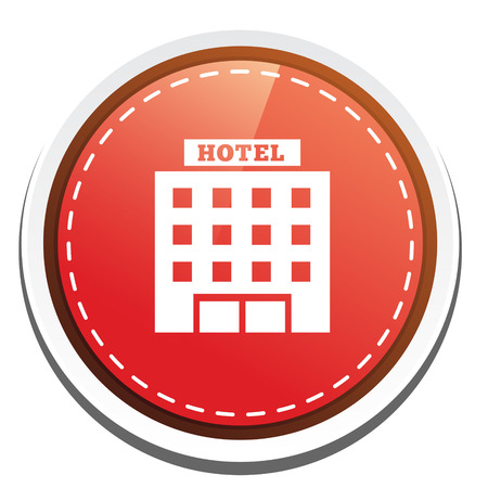 hotel building: hotel building icon Illustration