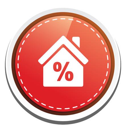 the percentage: percentage real estate icon Illustration