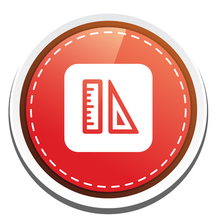 triangle button: ruler triangle  button Illustration