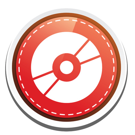 compact disk: compact disk icon