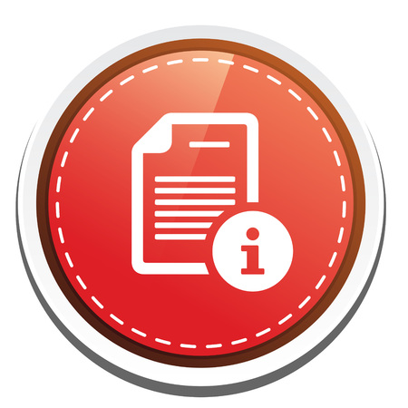 info button: document with info button