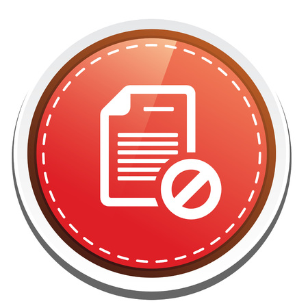 confidentiality: document with restricted sign