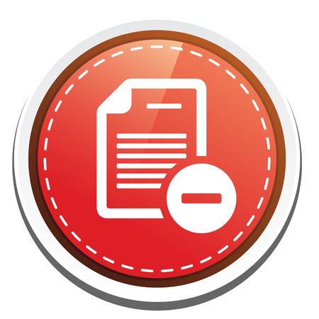 minus: document with minus sign icon Illustration