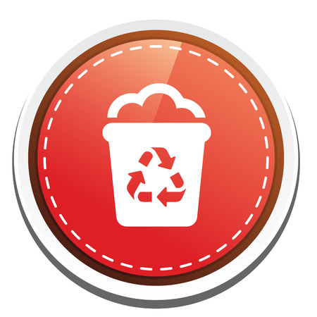 waste basket: recycle bin icon