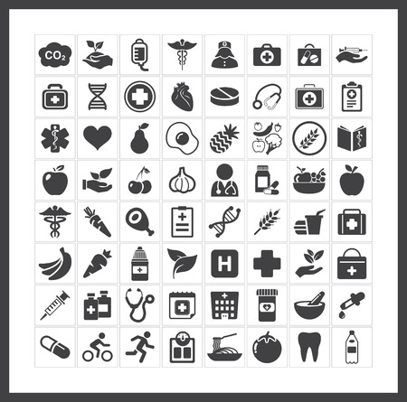 set: health icons