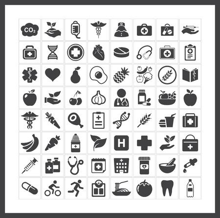 emergencia medica: salud iconos