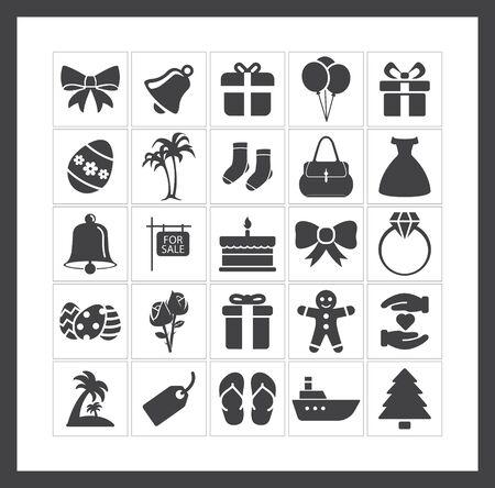 holiday icons: Holiday icons Illustration