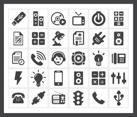 controls: Controls icons Illustration