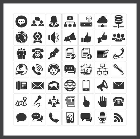 komunikacja: ikony komunikacji Ilustracja