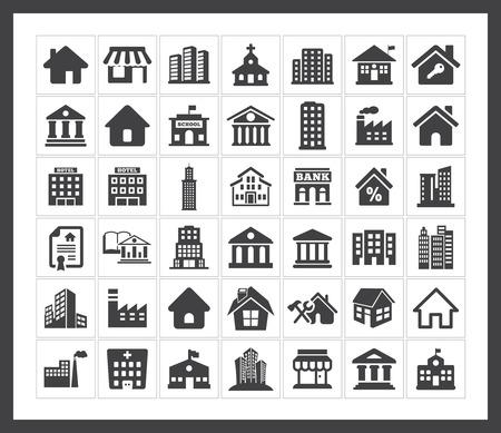 construcci�n: Iconos de edificio