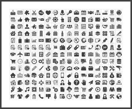 Iconos de negocio  Foto de archivo - 40881175