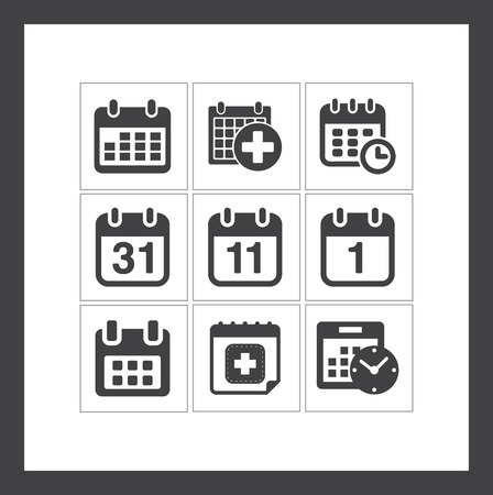Calendar icons 일러스트