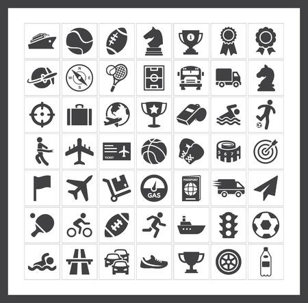 icono deportes: Deportes iconos Vectores