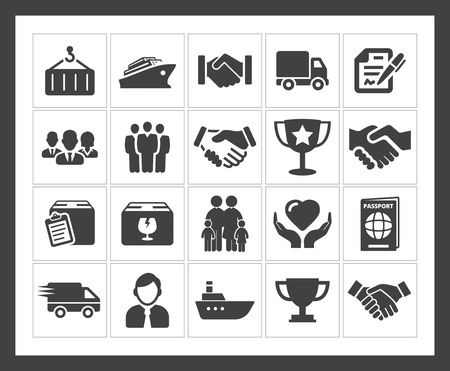 Shipping icon Illustration