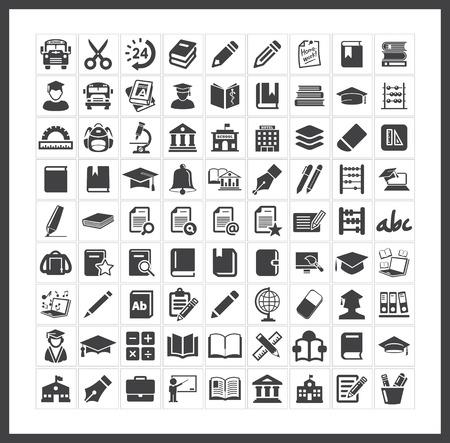 Icônes scolaires Banque d'images - 40881343