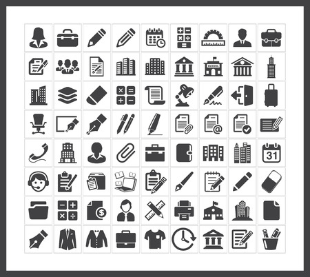Office icons Ilustrace