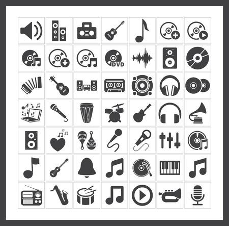 Iconos de la m?sica Foto de archivo - 40881416