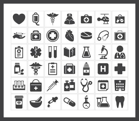 iconos medicos: Los iconos de m?dicos