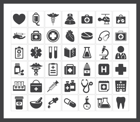 Medical icons Stock Vector - 40881417