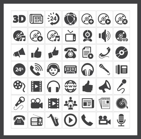 Iconos de los medios de comunicación