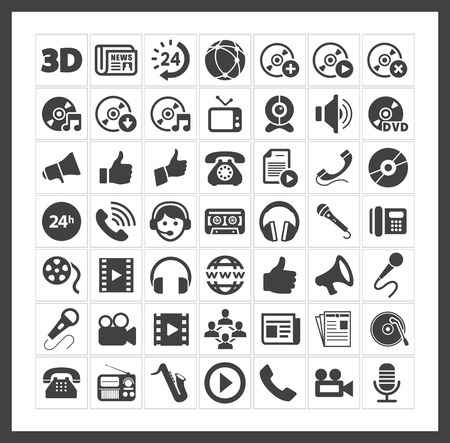 Media icons Stock Vector - 40881427