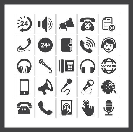 phone icons Stock Vector - 40881438