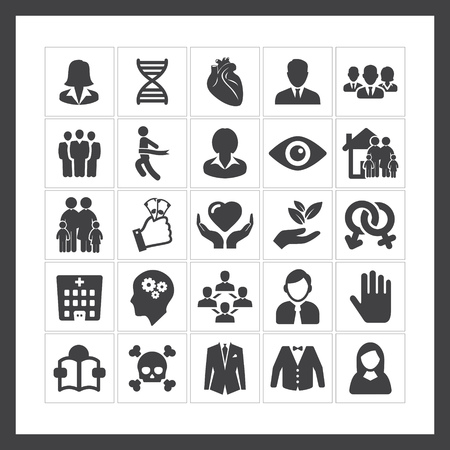 heart suite: Human icons