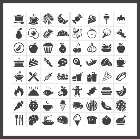 food and wine: Food icons