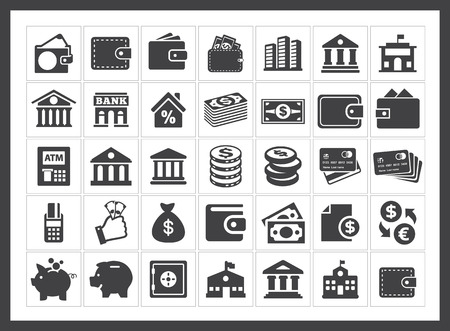 banking pictogrammen Stock Illustratie