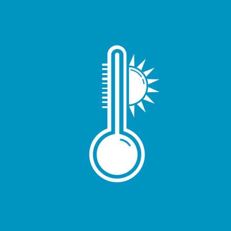 heat: heat thermometer icon Illustration