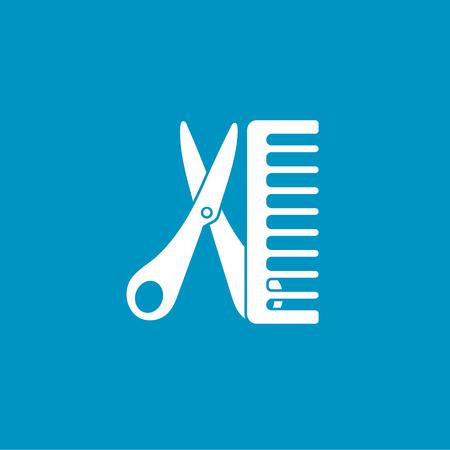 hair dresser: hair dresser icon Illustration