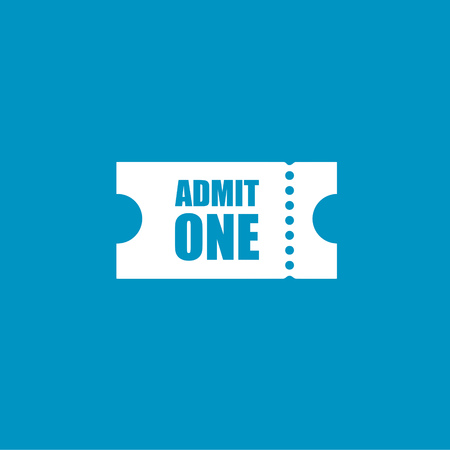 admit one: Admit one   button Illustration
