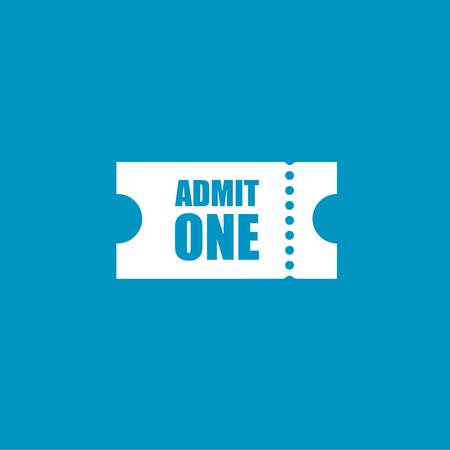 admit: Admit one   button Illustration