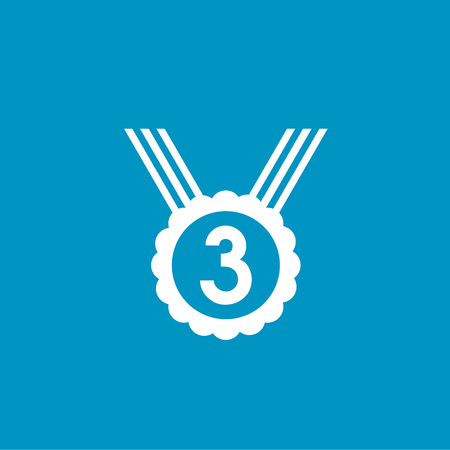 and the third: medal number third icon