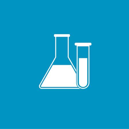 tube: lab test tube button Illustration
