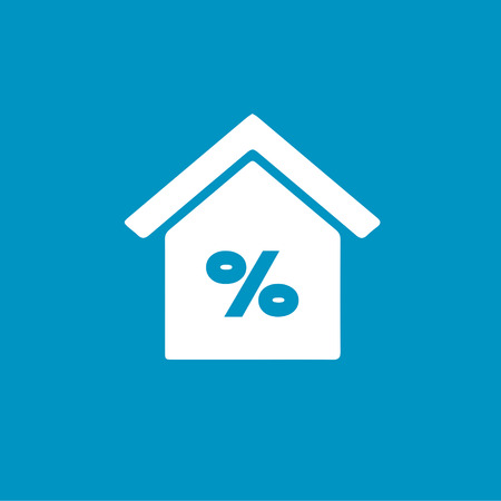 home buyer: percentage real estate icon Illustration