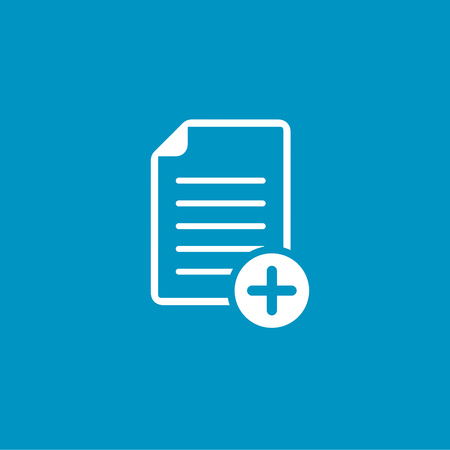 plus sign: document with plus sign icon Illustration