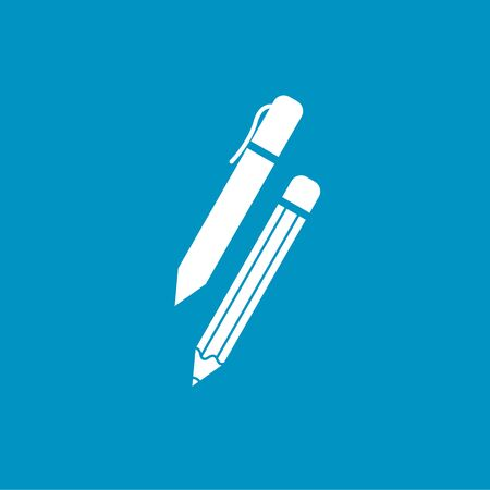 writing instruments: pen and pencil write icon