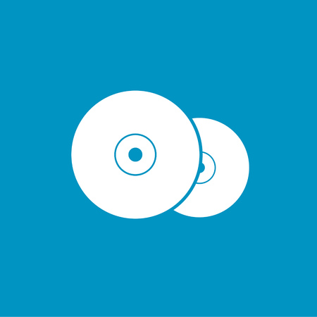 compact disc: compact disc icon Illustration