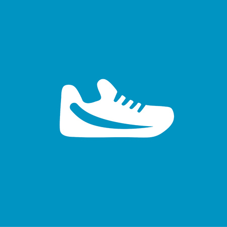 training shoes: training shoes icon Illustration