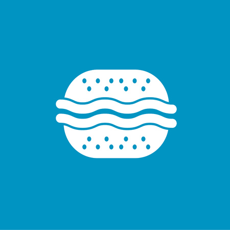 beefburger: beef burger icon Illustration
