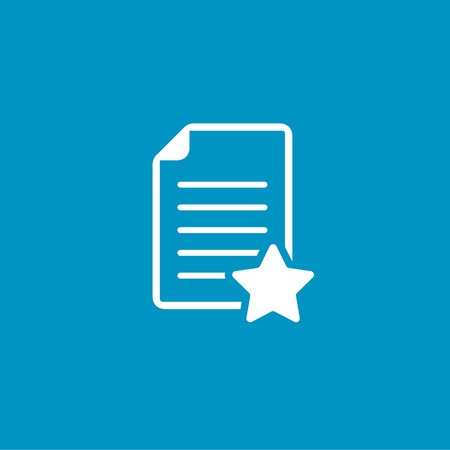 book reviews: document with star favorite icon