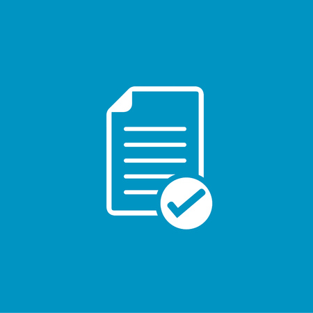 document with Check mark sign icon Illustration