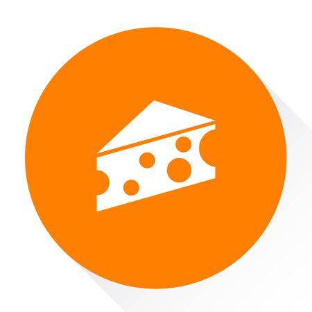yellow cheese slice icon